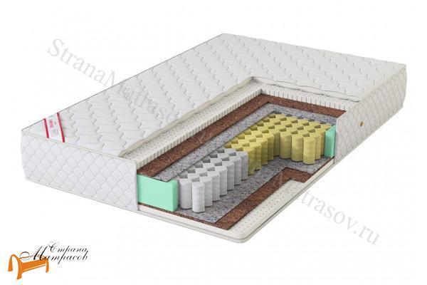 Virtuoz Матрас Гармония TFK 500 (3 зоны) , латекс, кокос, независимый пружинный блок