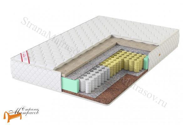 Virtuoz Матрас Самба TFK 550 (3 зоны) , холлофайбер, кокос, термовойлок